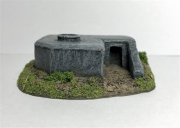 Observation Bunker with Tobruk -Battle Scale Buildings 10mm-15mm scale 10EW005