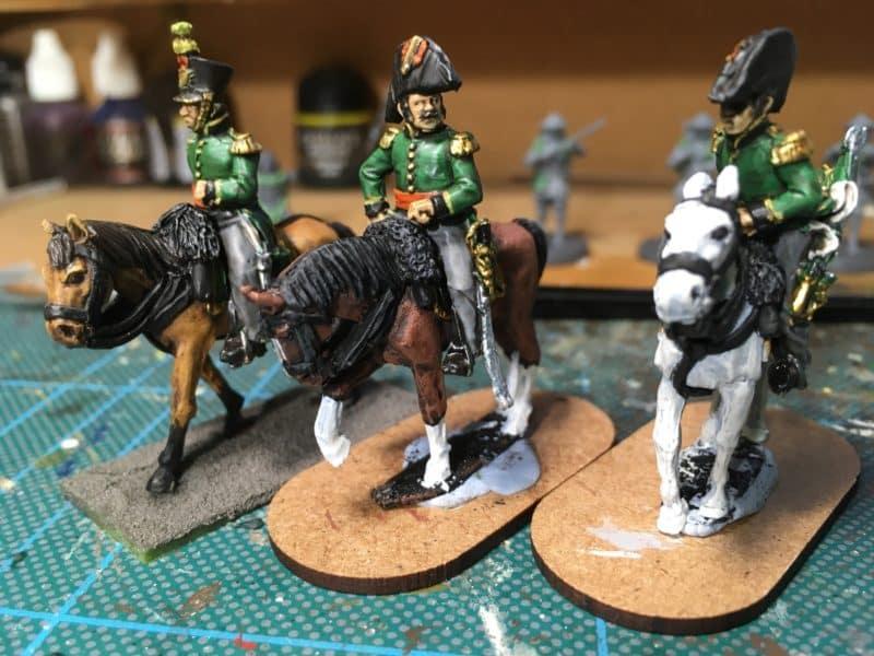 The figures on horseback