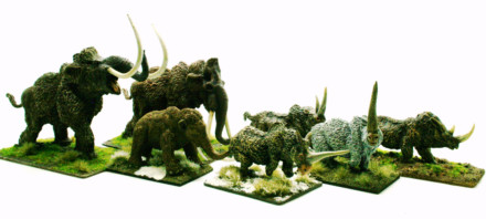 ICE AGE BEASTS COLLECTION – DeeZee Miniatures 28mm Wargames & RPG