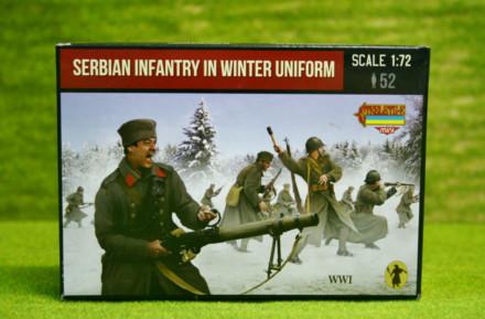 Strelets WW1 SERBIAN INFANTRY IN WINTER UNIFORM 1/72 miniset M126