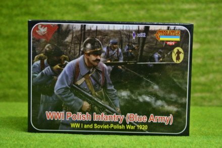 Strelets WW1 POLISH INFANTRY BLUE ARMY 1/72 miniset M130