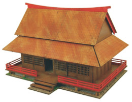 Japan Samurai House 20mm Laser cut MDF B203