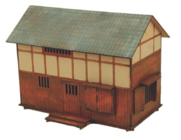 Japan Large House 20mm Laser cut MDF B204