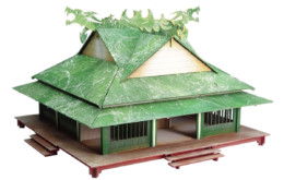 Japan SAMURAI DRAGON HOUSE 28mm Laser cut MDF scale Building B040