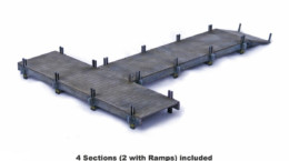 Colonial or Far East WOODEN JETTY SET 28mm MDF Building Sarissa Precision K012