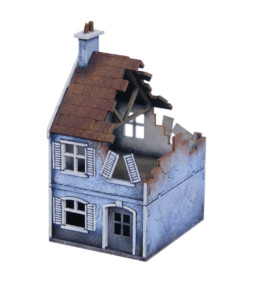 Europe Destroyed Terraced House 20mm 1/72nd MDF Sarissa Precision N202
