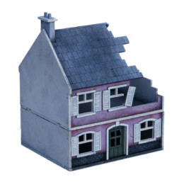 Europe Destroyed Farm House 20mm 1/72nd MDF Sarissa Precision N212