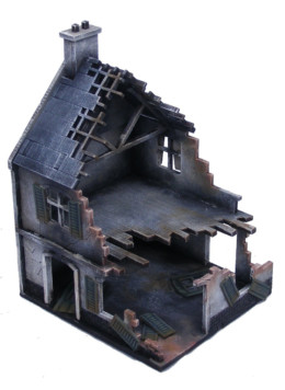 Europe Destroyed House 20mm 1/72nd MDF Sarissa Precision N225