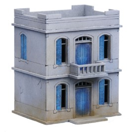 North African/Colonial House 2 Storey 20mm Laser cut MDF kit N284