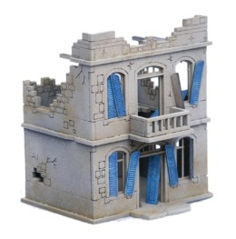 North African/Colonial House 2 Storey Destroyed 20mm Laser cut MDF kit N285