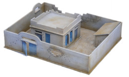 North African/Colonial Compound and House Damaged 20mm Laser cut MDF kit N287