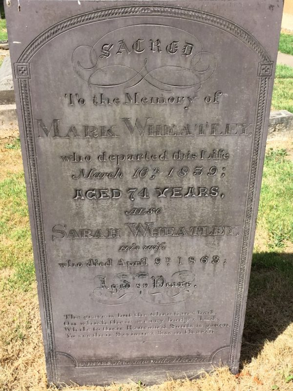 Wheatley family grave