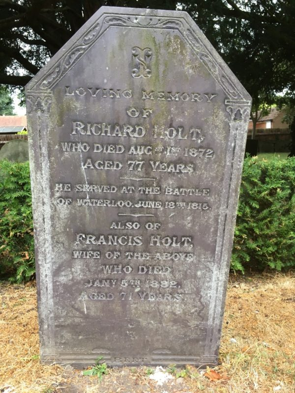 Richard Holt a Waterloo man buried in Bingham
