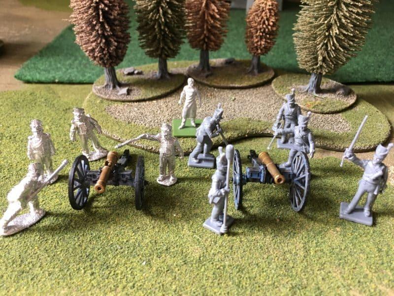 Foot Artillery crews ready for priming