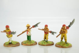 Victorious Miniatures Chinese Boxers Open hands w/ Polearms pack C BOXINF08