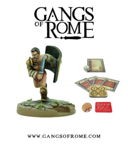Gangs of Rome Gladiator Duodevicesimus War Banner Footsore Miniatures WBGOR018