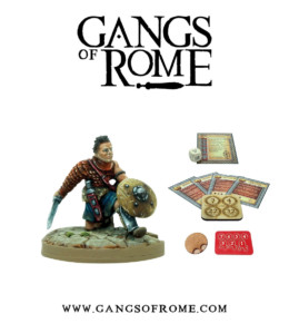 Gangs of Rome Gladiator Septimusdecimus War Banner Footsore Miniatures WBGOR017