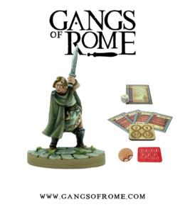 Gangs of Rome Gladiator Sextusdecimus War Banner Footsore Miniatures WBGOR016