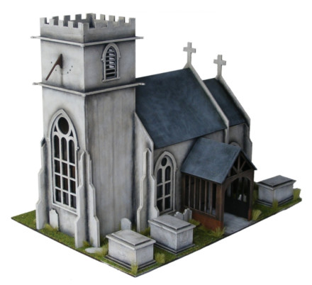 WW EUROPE SMALL English Church 28mm Laser cut MDF kit N093