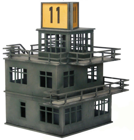 WW2 EUROPE RAF Air Control Tower 28mm Laser cut MDF Building Terrain N095