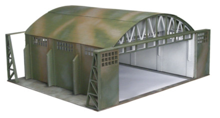 WW2 EUROPE HANGER 28mm Laser cut MDF Building Terrain N096