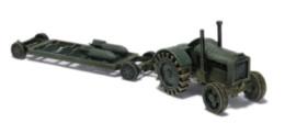 RAF TRACTOR and TRAILER N097 Laser Cut MDF 28mm