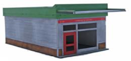 Retro Americana Retail Unit Small 28mm Laser Cut MDF Building Q001