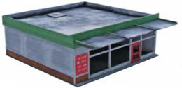 Retro Americana Retail Unit MEDIUM 28mm Laser Cut MDF Building Q002