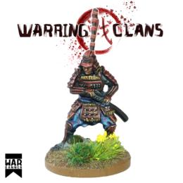 Samurai drawing Katana Warring Clans from War Banner SAM006