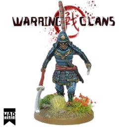 Samurai with Naginata and Katana Warring Clans from War Banner SAM013