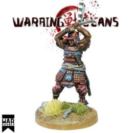 Samurai with Katana raised Warring Clans from War Banner SAM008