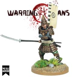 Samurai with Naginata Warring Clans from War Banner SAM003