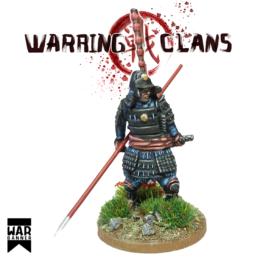 Samurai in full armour with Yari Warring Clans from War Banner SAM007