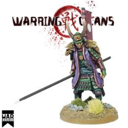Samurai with Horned helmet Warring Clans from War Banner SAM011