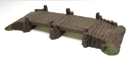 Sectional Timber Bridge-Battle Scale Buildings 10mm – 15mm scale 10S015