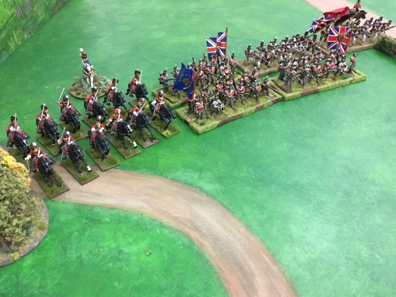The British Heavy Cavalry Brigade and the First Infantry Brigade.