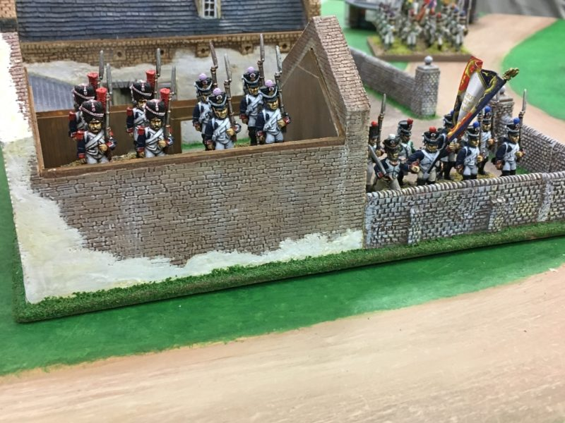 The French Infantry occupy the Farm House