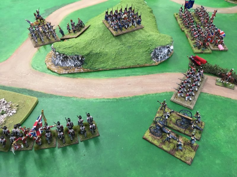 Withe the artillery stalled on the hill, the French infantry march into a trap!