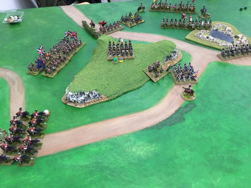 Heavy Cavalry break through! Fench rear under threat.