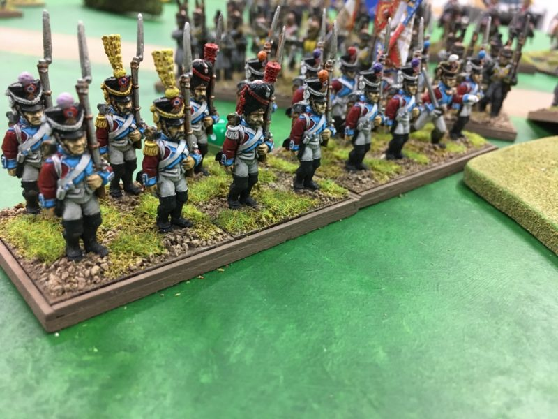 French Army deploy into line after a rapid advance.