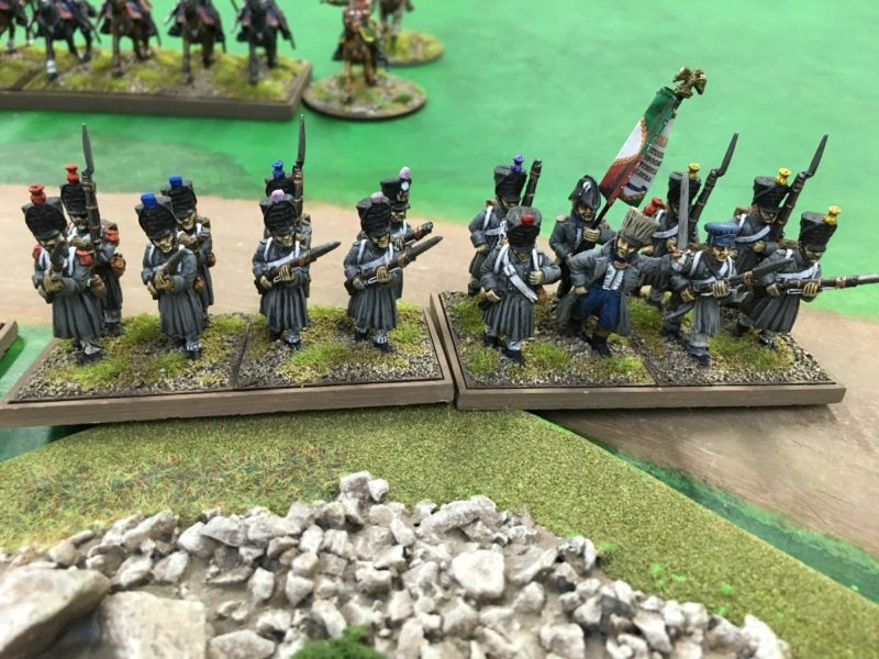 French Infantry advance. These guys did their job!