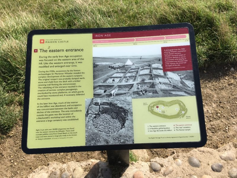 Maiden Castle -The Eastern Entrance Story Board