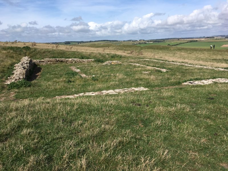 Maiden Castle - Roman Temple Ruins