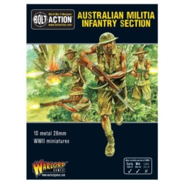 Australian Militia Infantry Section Bolt Action Warlord Games 28mm