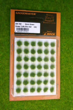 Gaugemaster GREEN GRASS TUFTS 6mm GM162