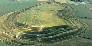 Maiden Castle - an Aerial View