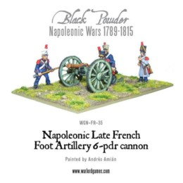French Napoleonic Late French Foot Artillery 6 pounder Warlord Games 28mm