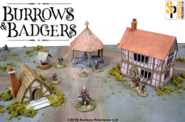 Burrows & Badgers SCENERY SET MDF BUILDINGS Sarissa Precision BB08