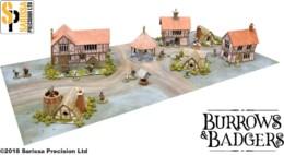 Burrows & Badgers WARREN PERCY TOWN SET MDF BUILDINGS BB09