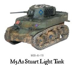 M5 A1 STUART LIGHT TANK Bolt Action Warlord Games 28mm